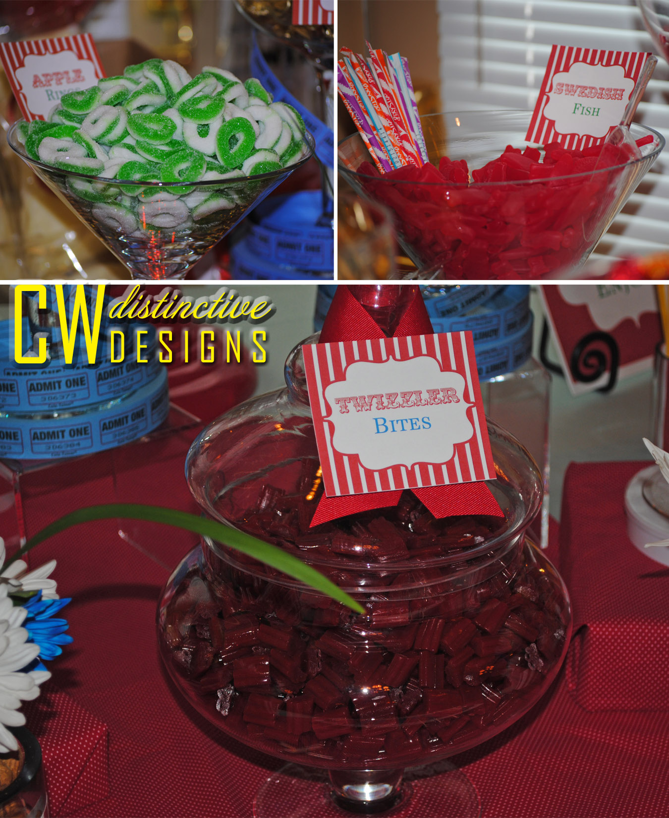 red candy buffet – CW distinctive DESIGNS