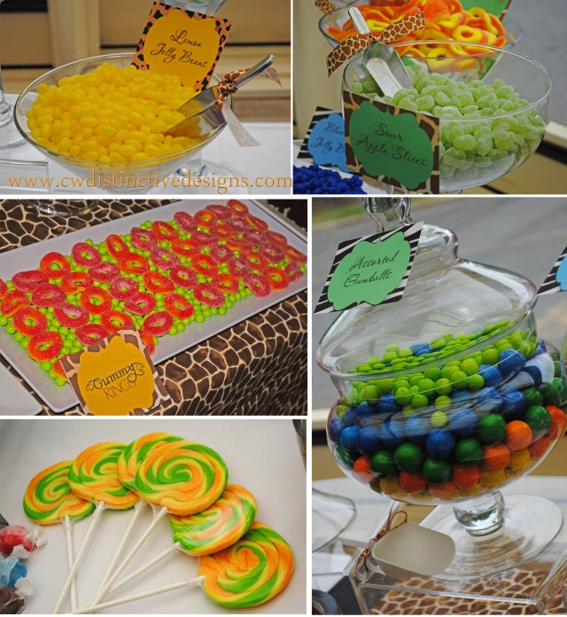 Jungle theme inspiration baby shower cw distinctive for Table design jungle