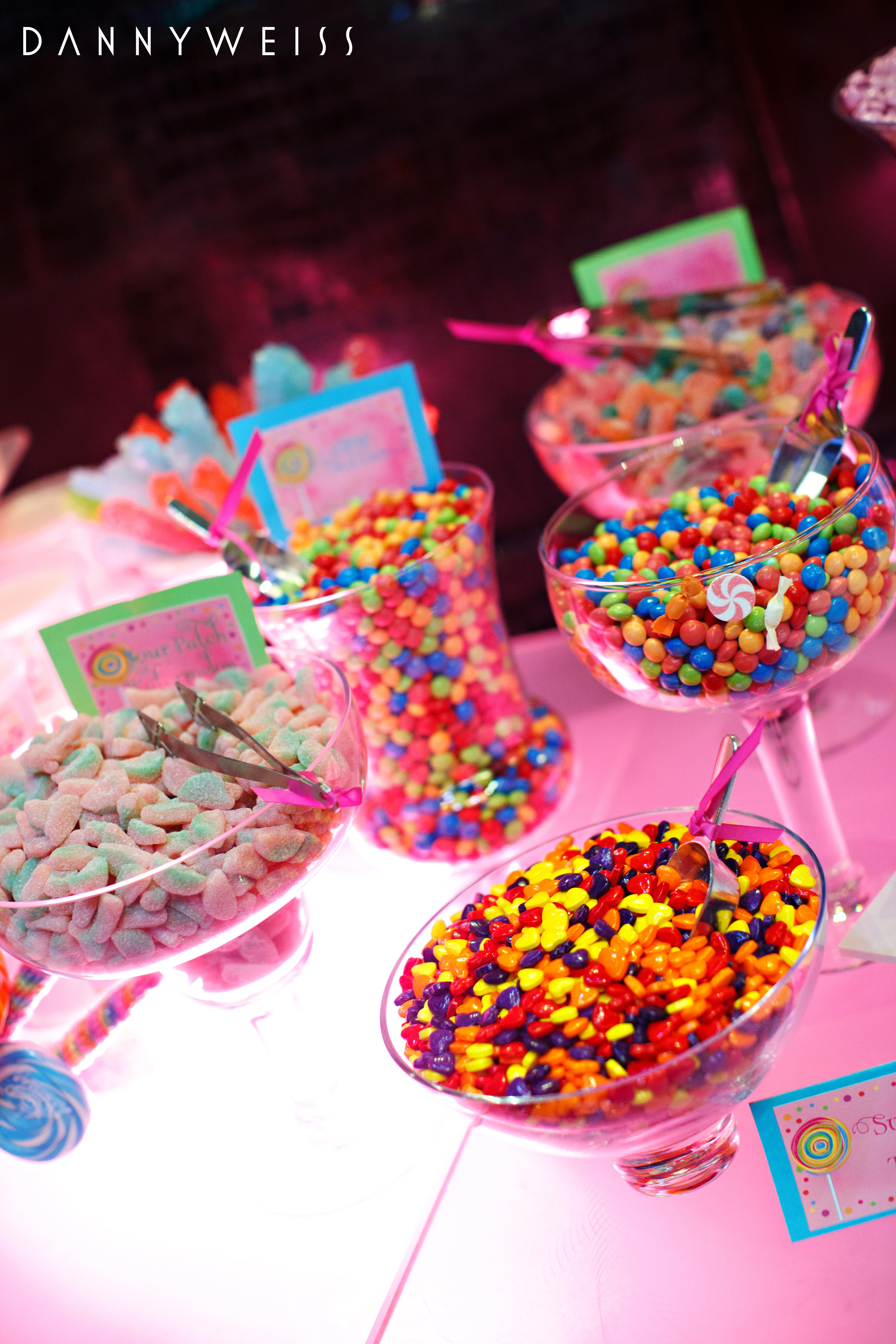 Candy sweet treat dessert table mitzvah madness cw distinctive designs - Candyland party table decorations ...