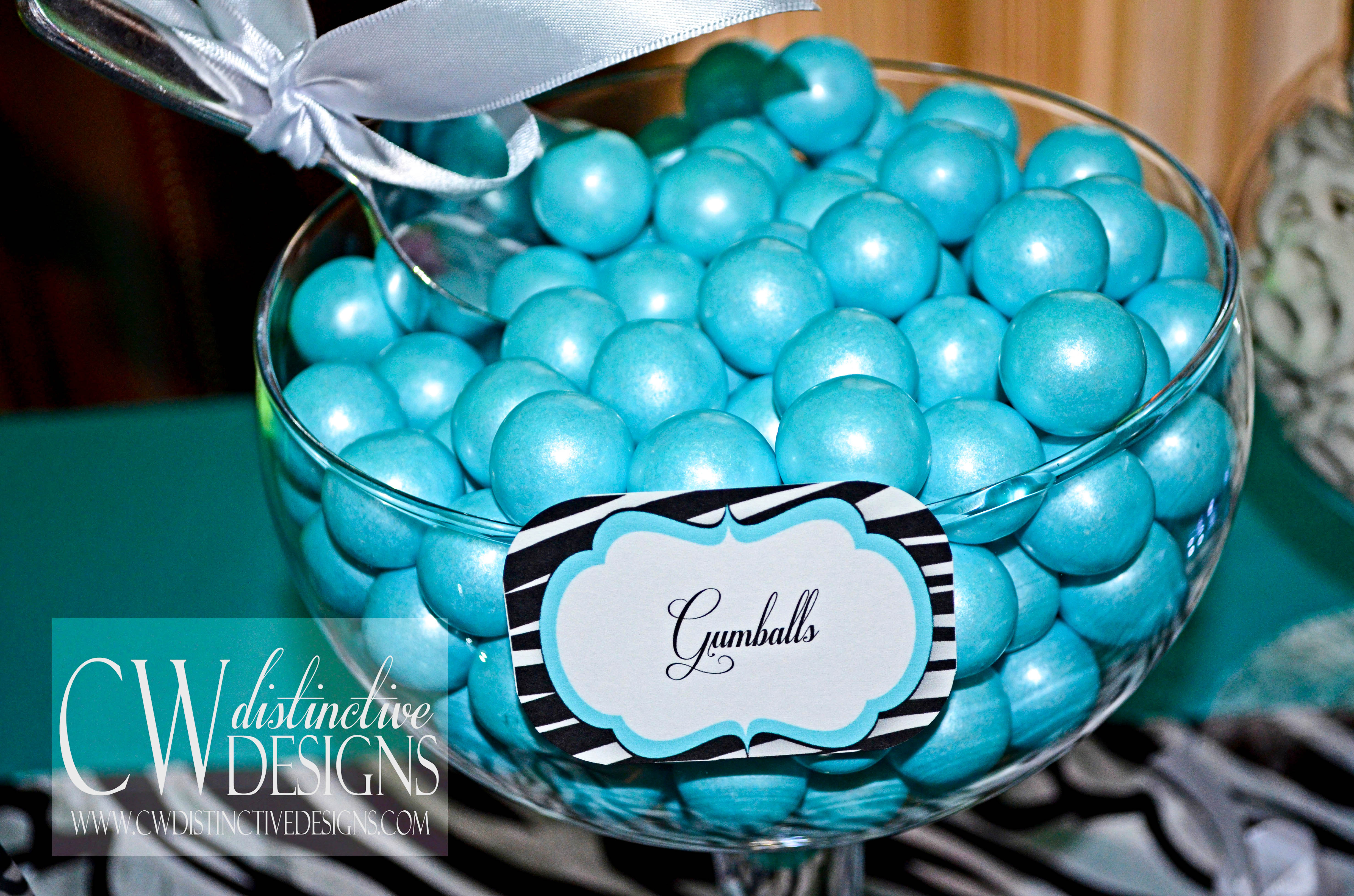 tiffany blue zebra print candy buffet baby shower