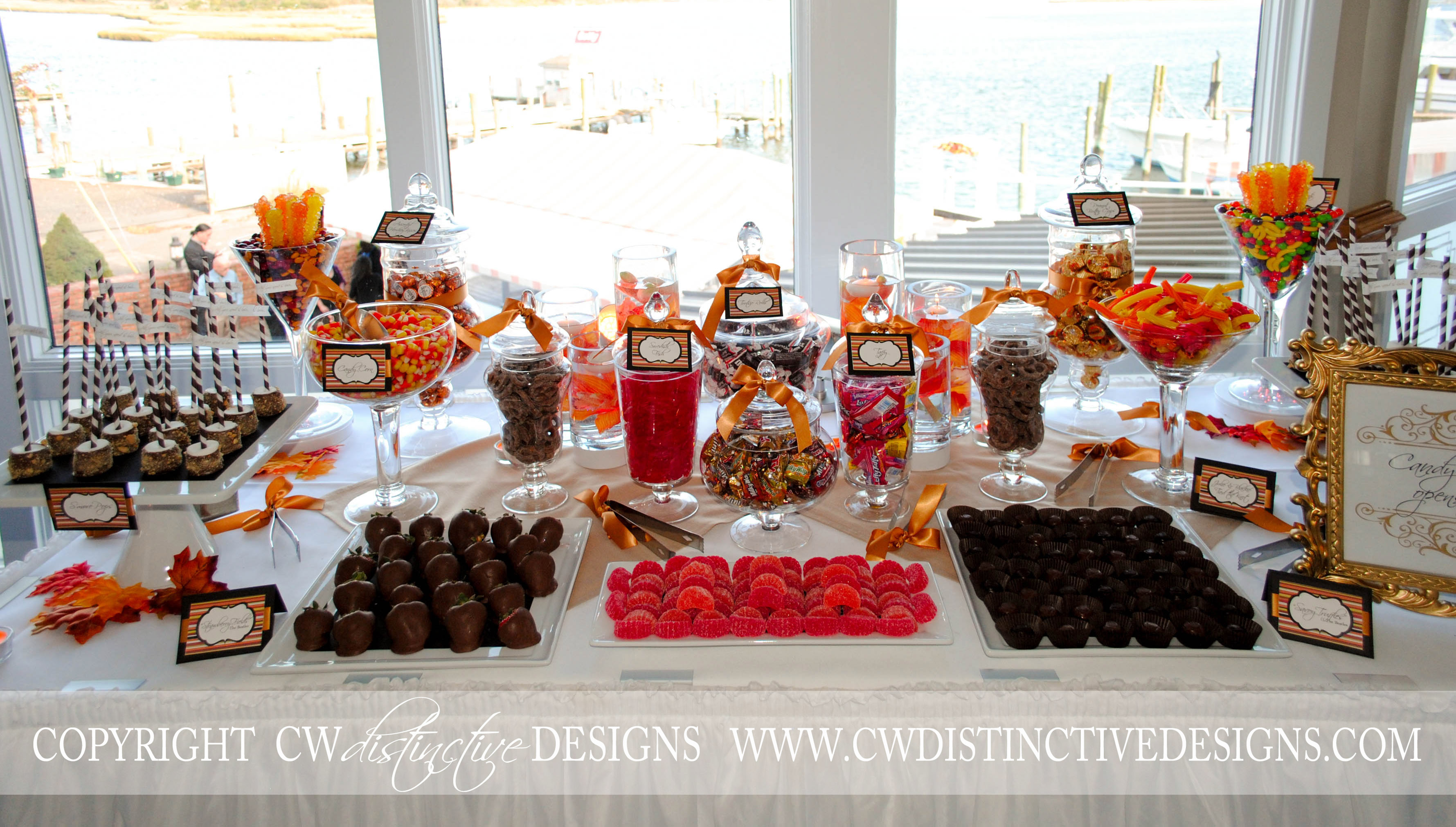 "Fall Wedding Candy Buffet Ideas: ""All You Need Is Love""…and A Little Bit Of CANDY!"