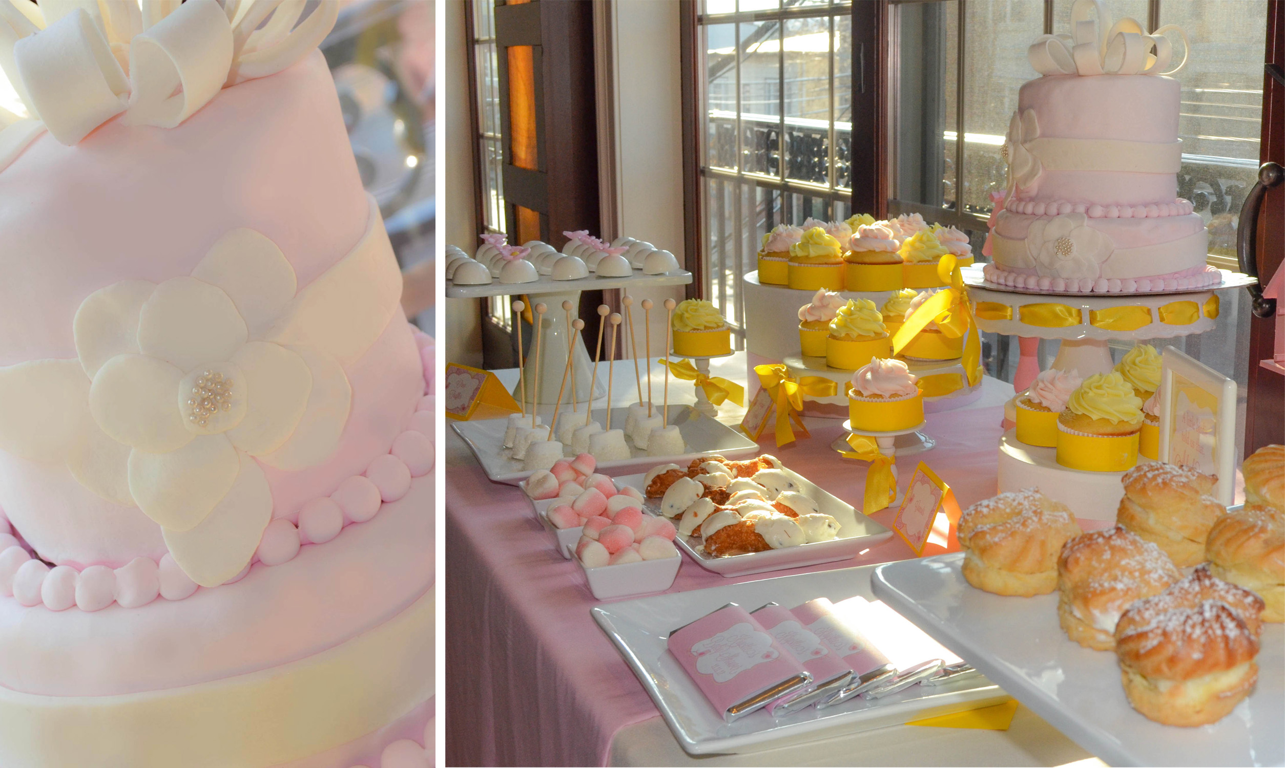 Baby Shower Yellow And Pink ~ Pink and yellow baby shower cw distinctive designs