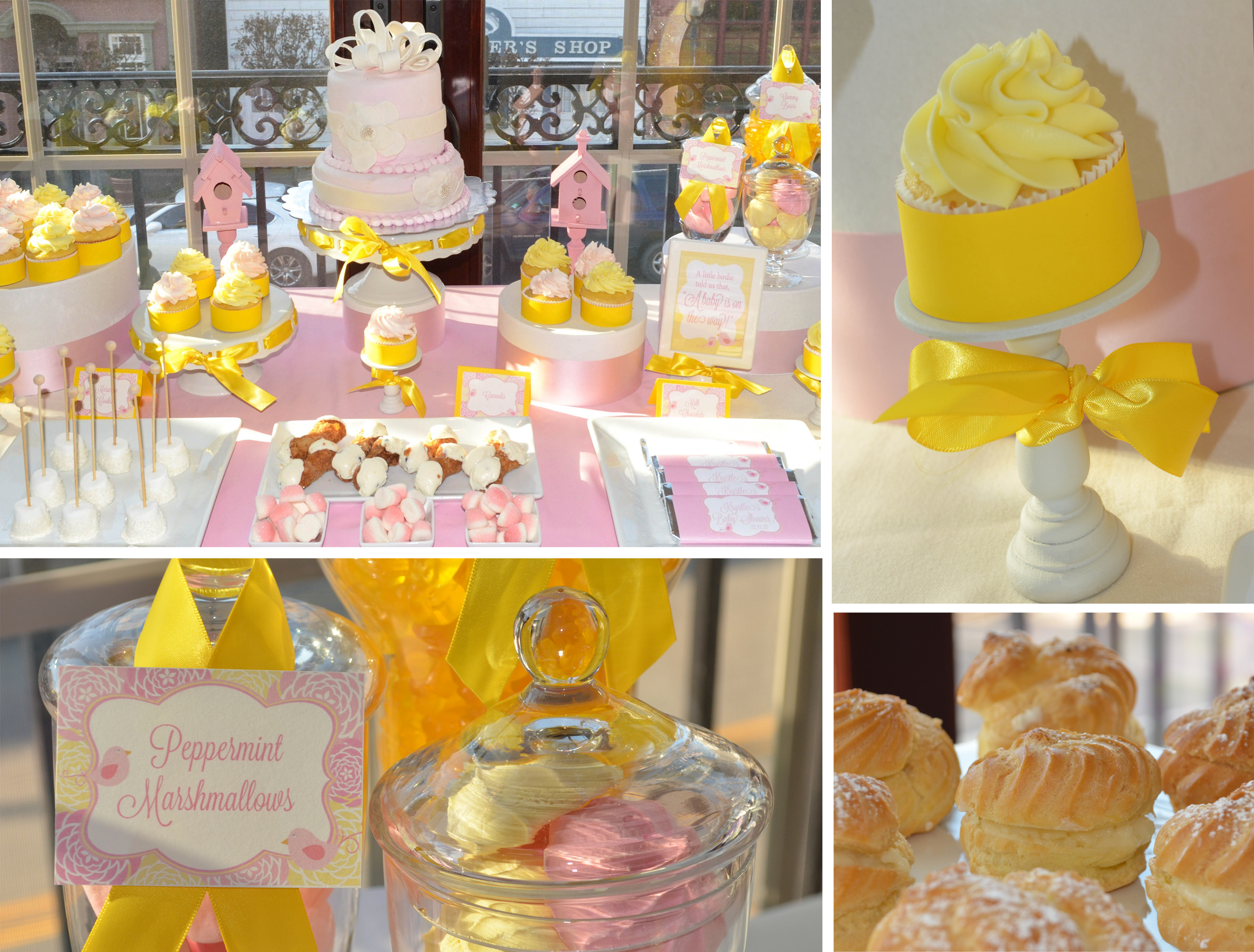 pink and yellow baby shower cw distinctive designs