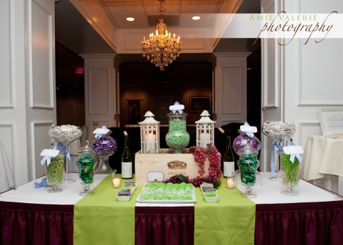 Wine Themed Wedding Candy Buffet Favor Table