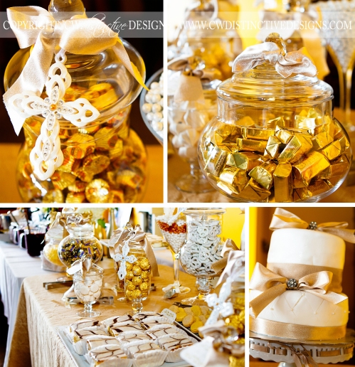 Christening Candy and Dessert Buffet Station