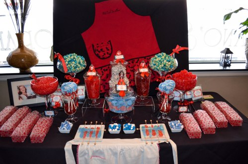 Red & Aqua Candy Table Station