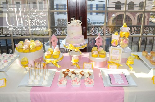 Pink Vintage Candy and Dessert Buffet Table