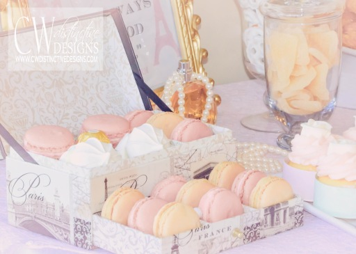 Vintage French Macarons Bridal Shower