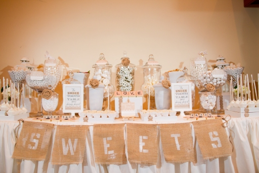 Burlap and White Wedding