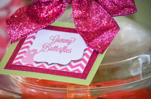 Pink Chevron Candy Table