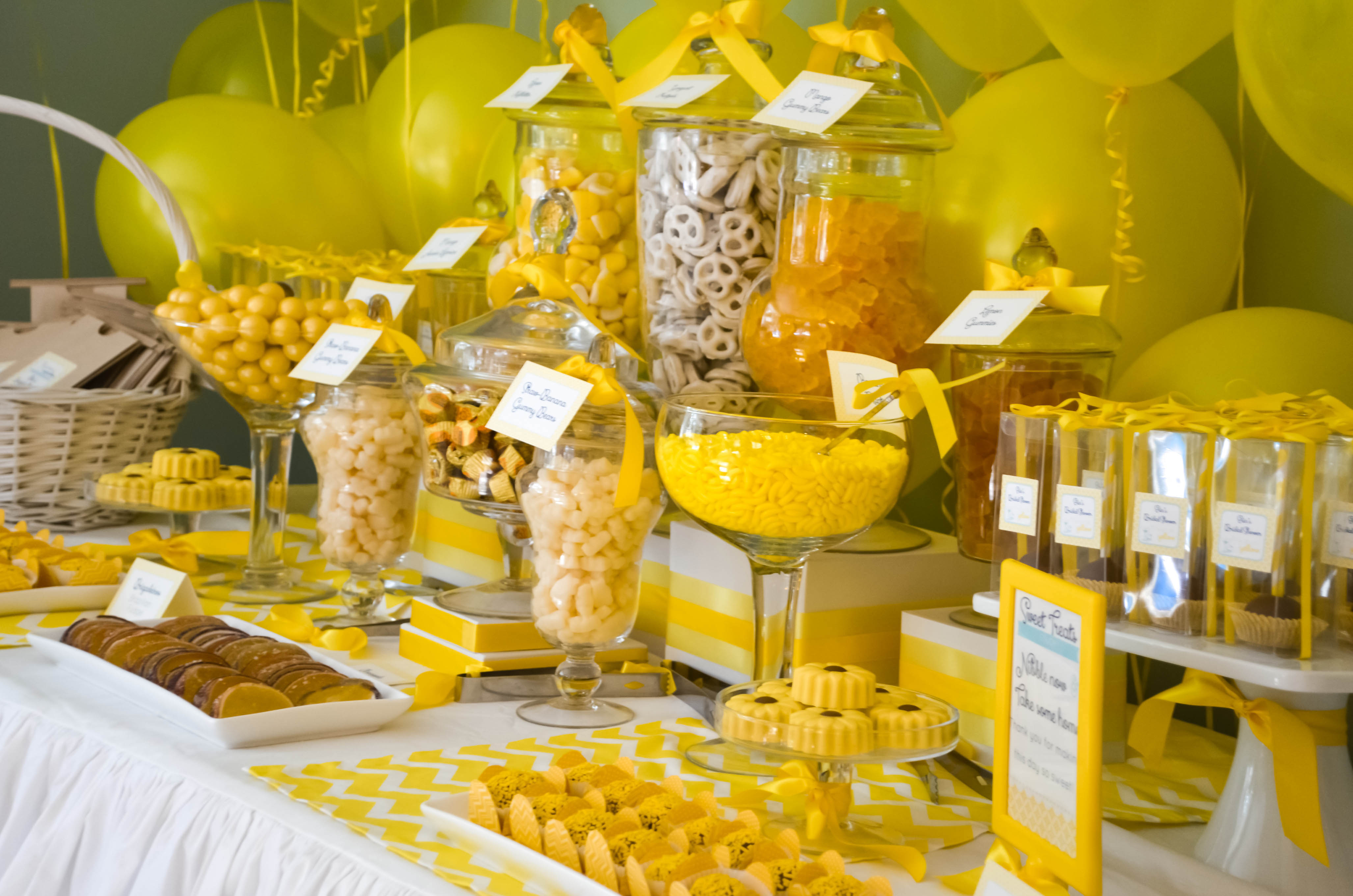 Yellow Dessert Tables Cw Distinctive Designs