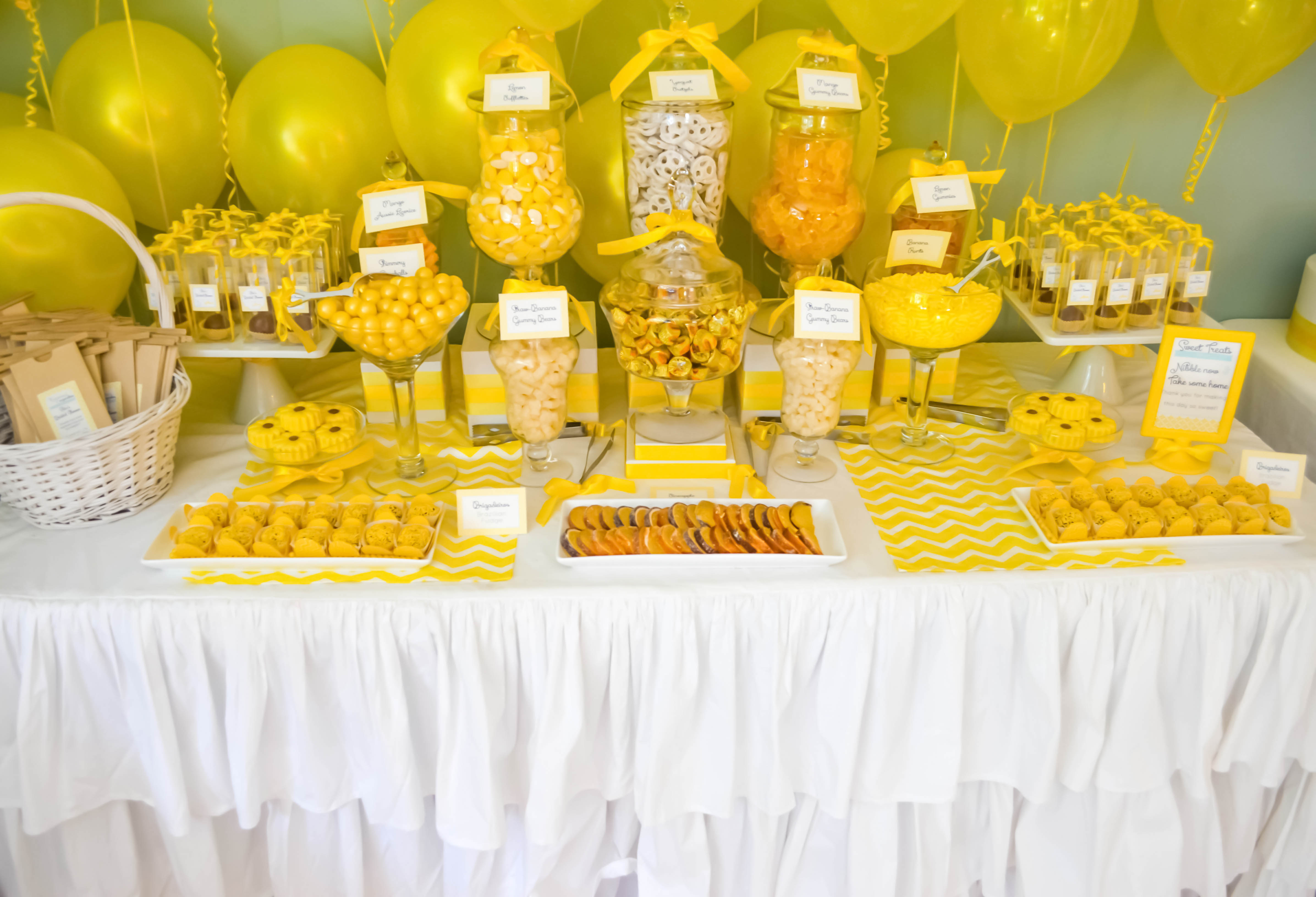 yellow candy buffets – CW distinctive DESIGNS