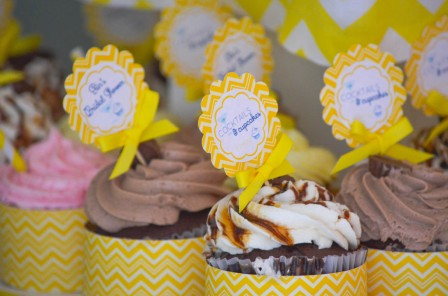 Yellow Bridal Shower Desserts