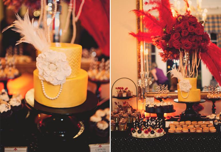 Great Gatsby Vintage Elegance Wedding Dessert Table Cw
