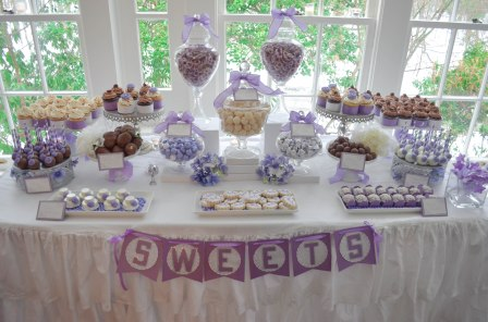 Elegant Shower Sweet Dessert Candy Table