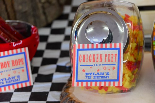 Rodeo Cowboy Candy Buffet