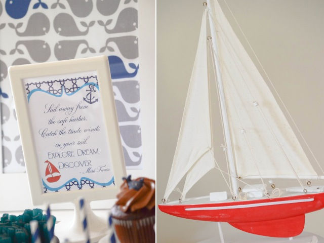 Sailing Baby Shower Dessert Table Ideas