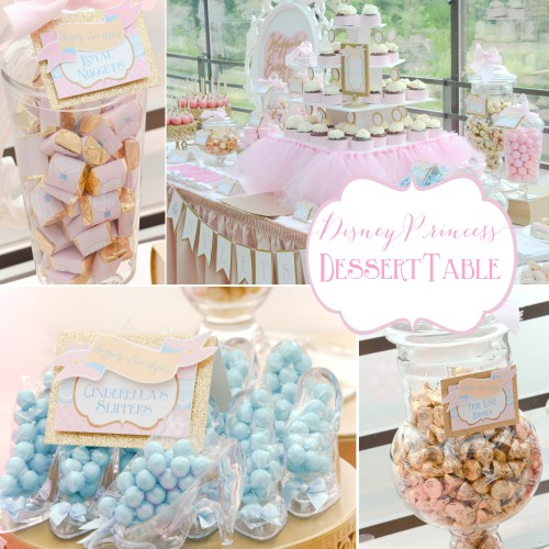 Happily Ever After princess bridal shower party | #disney #princess #desserttables wwwcwdistinctivedesigns.com