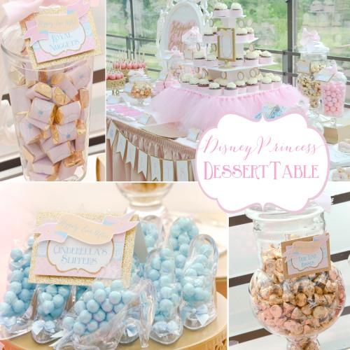 Happily Ever After princess bridal shower party | #disney #princess #desserttables wwwcwdistinctivedesigns.com