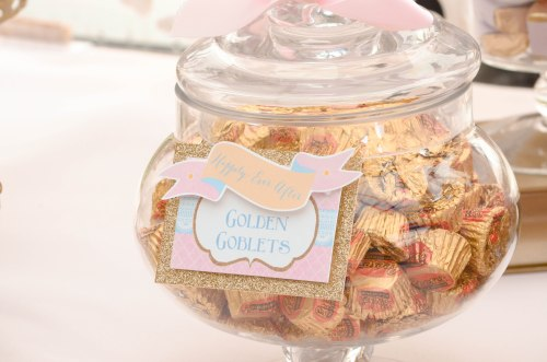 Pink and Gold Candy Buffet