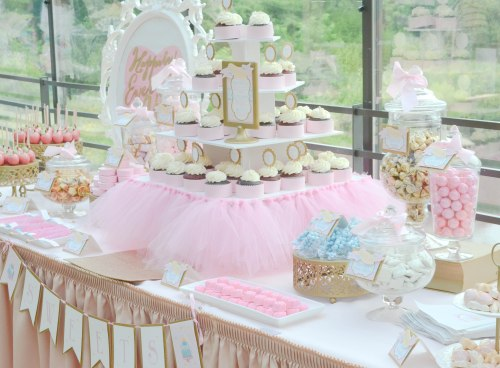 Pink Tulle Bridal Shower Cupcakes