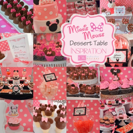 Minnie Mouse Birthday Party | #cakepops #cupcakes #desserttables