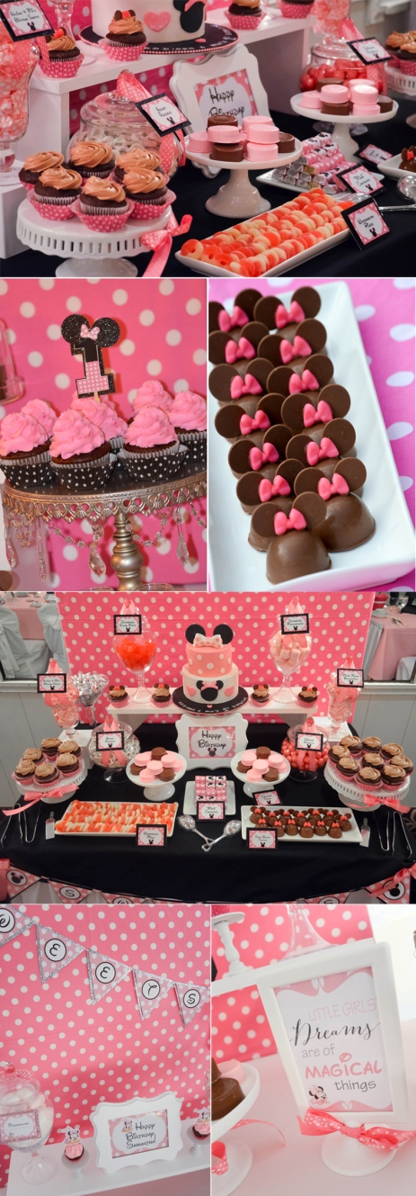 minnie mouse candy buffet ideas