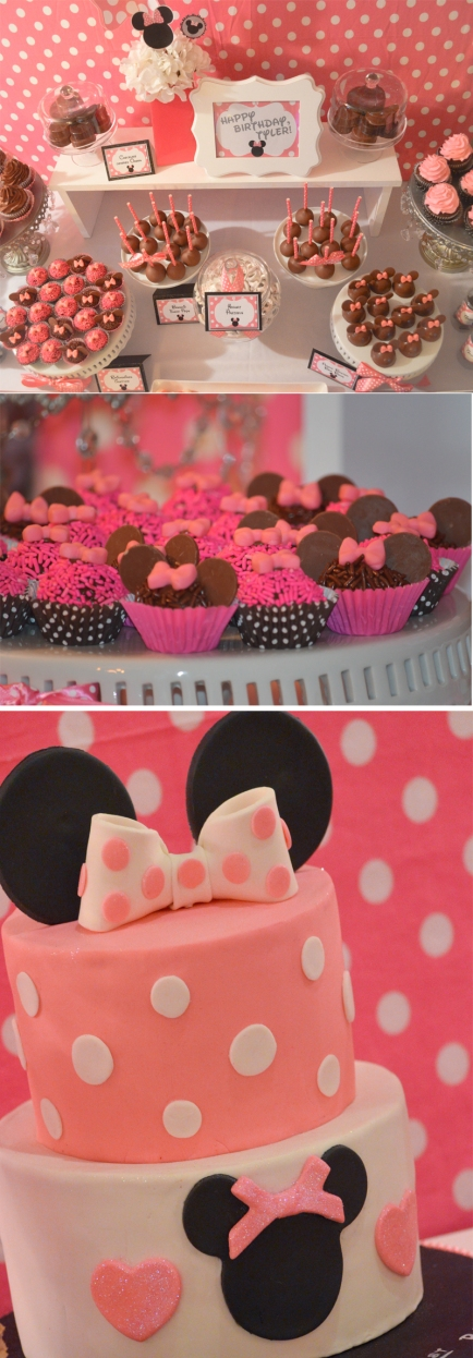 | Minnie Mouse Dessert Table Inpiration and Ideas  #cakepops #cake #desserttables | www.cwdistinctivedesigns.com