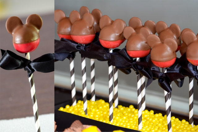 | Mickey Mouse Dessert Table and Candy Buffet Party Inspiration | #cakepops #desserttables #candybuffets | www.cwdistinctivedesigns.com |