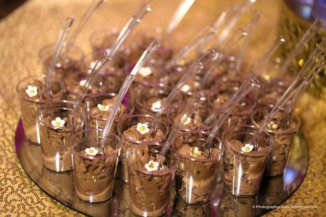 | Modern Opulence Gold Wedding Dessert Table | cake cupcakes cake pops dessert shooters cookies | www.cwdistinctivedesigns.com | #gold #desserttables #wedding