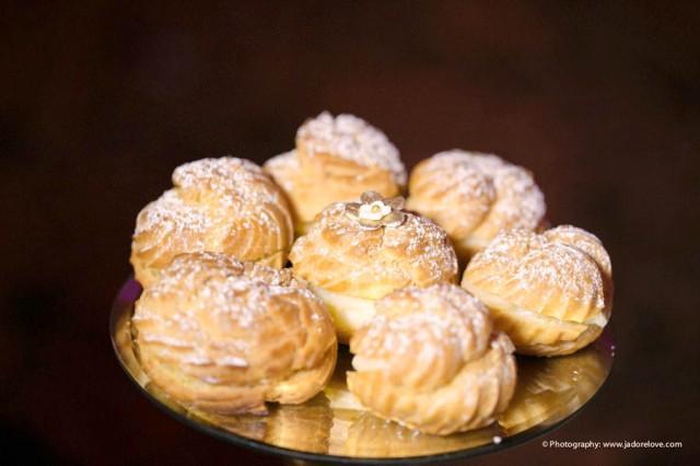 | Modern Opulence Gold Wedding Dessert Table | cake cupcakes cake pops dessert shooters cookies | www.cwdistinctivedesigns.com | #creampuffs #desserttables #wedding