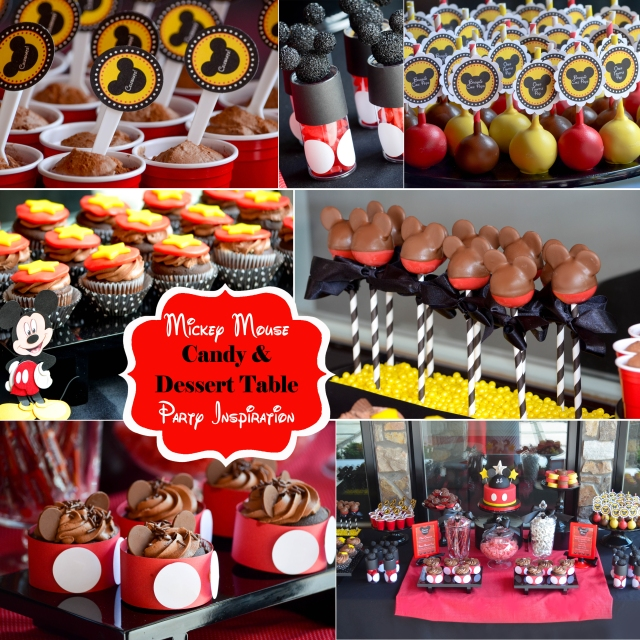 | Mickey Mouse Dessert Tables and Candy Buffets Party Inspiration and Ideas | #nyccandytables #nycdesserttables #njcandybuffets | www.cwdistinctivedesigns.com |