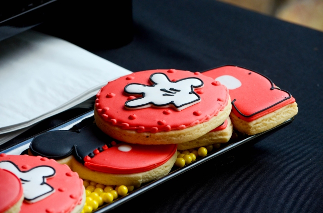 | Mickey Mouse Dessert Table and Candy Buffet Party Inspiration | #cookies #mickeymouse #candybuffets | www.cwdistinctivedesigns.com |