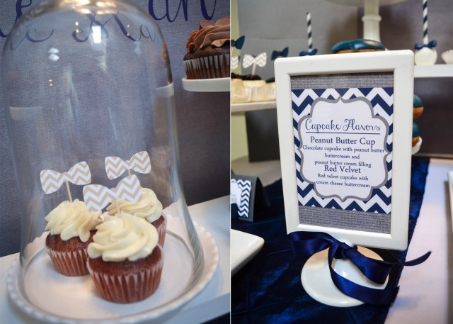 |Our Little Man Baby Shower | www.cwdistinctivedesigns.com | #chevron #cupcakes #desserttablesnj