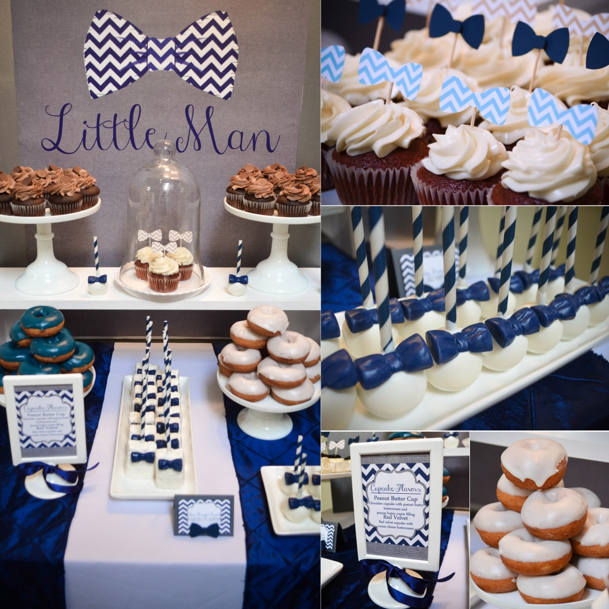 our little man bowtie baby shower dessert table cw distinctive