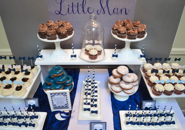|Our Little Man Baby Shower | www.cwdistinctivedesigns.com | # njdesserts #cakepops #desserttables