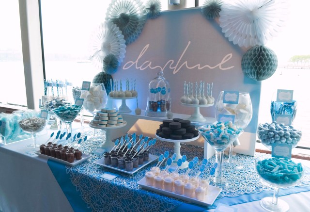 Mitzvah Candy And Dessert Table Daphnes NYC Boat