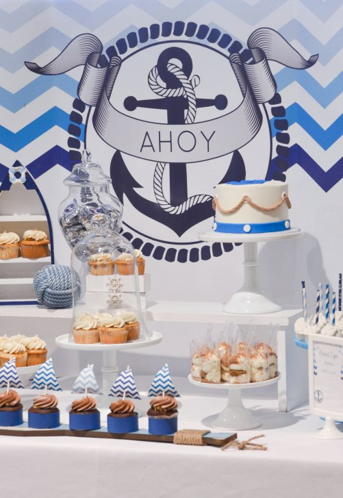Nautical Navy Blue Dessert Table